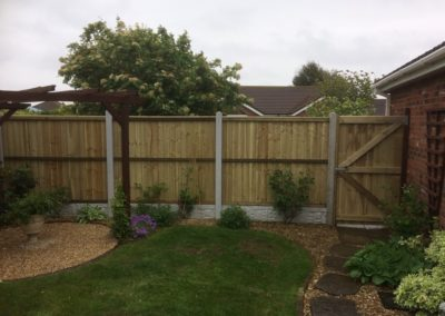 Fencing in Sutton-on-Sea